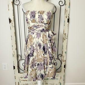 BCBGMaxAzria strapless silk dress size 13
